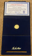 1976 Lincoln Mint Bicentennial .999 Fine Gold Commemorative Medal Set With Coa