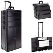 Ver Beauty Professional Rolling Makeup Train Case Heavy Duty Hair Stylist And Mak