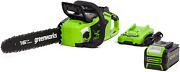 Greenworks 40v 16-inch Chainsaw With 4ah Usb Battery Power Bank And Standard C