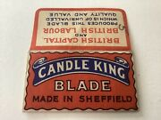 Vintage Razor Blade And Wrapper And039candle Kingand039 England