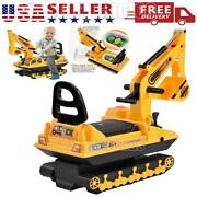 Tractors Digger Ride On Excavator Toy Movable Scooter Walker Pretend Play Truck