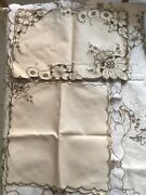 Antiques Multi Piece Set Of Madeira Table Linens