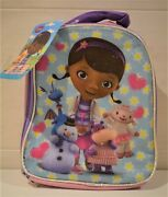 Doc Mcstuffins Zipped Lunch Bag With Carry Handle Philbert Chillie Lambie Hallie