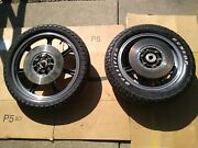 1975 1976 Honda Cb750f Cb 750 Lester Mags Wheels Set Front And Rear Very Nice