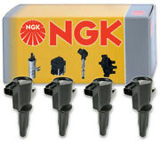 4 Pc Ngk Ignition Coils For 2009-2019 Ford Escape 2.5l L4 Spark Plug Wire Nq