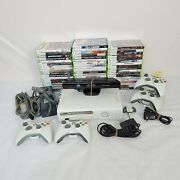 Xbox 360 120gb Bundle 4 Controllers And 55 Games + Kinect And Controller Dock
