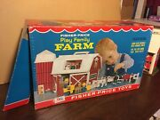 Vtg 1968 Fisher Price Little People Play Family Farm Set 915 W/box