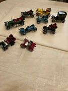 Vintage Lot 9 Cowland And Cowland 1952 Toy Antique Cars. Display Decor.