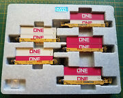 N Kato 106-6196 Ttx Set Gunderson Maxi-well Cars W/containers Gray And Pink One