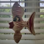 Vintage Paper Mache Whimsical Fish, Made In The Caribbean