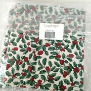 Longaberger Holly Christmas Fabric 5 Yards In Original Bag 1st Quality