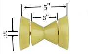 Dllj 3 Yellow Poly Bow Roller With 1/2 Shaft Stop Boat Pwc Marine Trailer