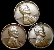 1924-s 1925-s 1926-d Lincoln Cent Wheat Penny ---- Nice Lot ---- T063