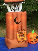 New Gemmy 6' Lighted And Animated Outhouse Prototype Halloween Airblown Inflatable