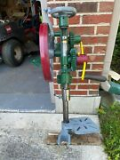 Vintage Champion Type Post Drill Ratchet Self Feeding W/ Table And Drill Shoe
