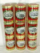 Lot 8 Vintage Metal Tin Cans Murmansk Russia City Buildings Arctic Circle Nice