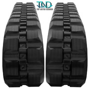 Two Rubber Tracks For Bobcat T200 Staggard 320x86x52 Block Tread Free Shipping