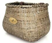 Nantucket Lightship Classic Basket 12and039and039x7.5and039and039x9and039and039 Stained