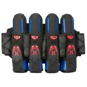 Hk Army Magtek Paintball Harness Magnetic Strap Pod Pack 4 + 3 Black Red New