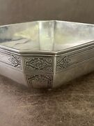 Rare Antique And Co. 1923 Makers Sterling Silver Square Bowl 0821
