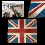 Rare Wwii British D-day Normandy Bayeux France Liberation Flag Omaha Gold Beach