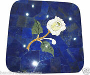 24 Blue Marble Coffee Table Lapis Lazuli Inlay Marquetry Art Home Decors H2031