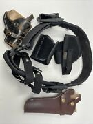 Lot Of Holsters Police Duty Belt Handcuff Cases Keepers Ankle Holster 082421
