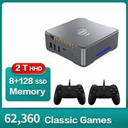 Cube Mini Pc Retro Video Game Console Built In 4k 62000+ Games 3d Game Player