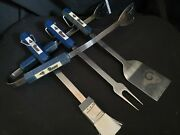 Nfl St Louis Rams Football Set Of 4 Barbecue Bbq Grilling Tools Spatula Tongs