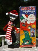 Telco Frank E Post Animated Singing Christmas Lamppost Tested Box And Scarf
