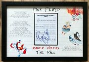 Roger Waters Pink Floyd Signed The Wall Sheet Music Custom Framed Display