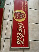 Vintage 1930and039s Take Home A Carton 6 Pack Coca Cola Sign