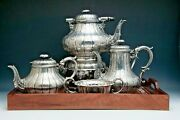 Antique Elkington And Co. Silver Plated 6 Piece Coffee And Tea Set