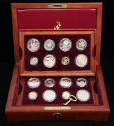 1996 Atlanta Us Olympics 16 Proof Gold And Silver Coin Set In Original Box