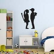 Style And Apply And039boy Meet Girland039 Banksy Vinyl Wall Decal