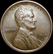 1913-s Lincoln Cent Wheat Penny ---- Nice Condition ---- R790