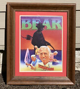 Vintage Fred Bear Archery Framed Wall Art Poster Hunting Cabin Man Cave Decor