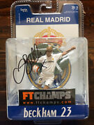 """David Beckham Autographed Ft Champs 3"""" Ultra Rare Real Madrid Mib Signed"""