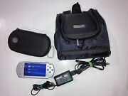 Sony Psp Playstation Portable Bundle 2001 Games Carrying Case Sonic New Battery