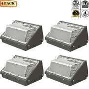 4pcs 120w Led Wall Pack Light Dusk To Dawn Commercial Outdoor Security 5000k