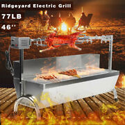 46and039and039 77lbs Spit Roaster Rotisserie Pig Lamb Roast Bbq Portable Outdoor Grill