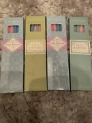 """New Williams Sonoma 10"""" Tiny Tapers Easter Set Of 4 Boxes With 6 Candles In Each"""