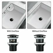 Bathroom 1x With/without Overfloe Hole Button Brass For Round Basin Sinks