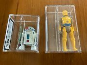 1985 Star Wars Droids Lot Of 2 Ukg90/ukg85 3cpo And R2-d2 Look Rare
