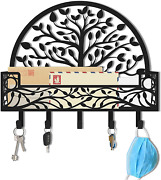 Maxfoundry Mail And Key Holder For Wall - Wall Mounted Decorative Mail And Key Rack