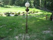 Antique Victorian Piano Floor Lamp Electrified Brass Parlor Lamp 68andrdquo
