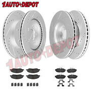 Front Andrear Anti-rust Coated Brake Rotors + Pads For 2005 - 2010 Ford Mustang V6