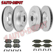Front Rear Anti-rust Brakes Rotors+pads For 2004-2012 Chevrolet Chevy Malibu