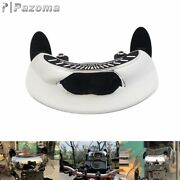 Motorcycle Blind Spot Mirrors 180 Wide Angle Rearview Convex Center Mirror Black