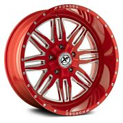 Xf Off-road Xfx-303 Wheels 22x12 -44 5x150 110.3 Red Rims Set Of 4